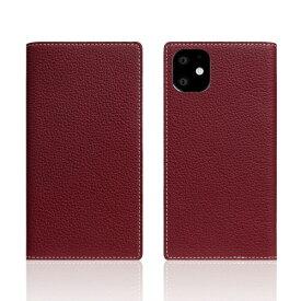 ROA ロア iPhone11 Full Grain Leather Case Burgundy Rose