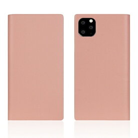 ROA ロア iPhone11 ProMax Calf Skin Leather Diary Baby Pink