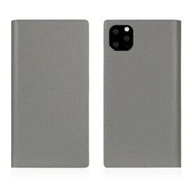 ROA ロア iPhone11 ProMax Calf Skin Leather Diary Gray