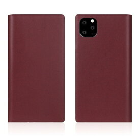 ROA ロア iPhone11 ProMax Calf Skin Leather Diary Burgundy
