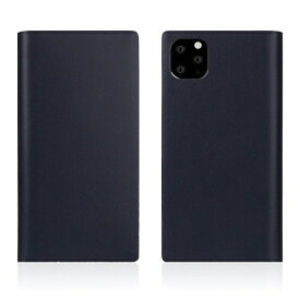 ROA ロア iPhone11 ProMax Calf Skin Leather Diary Navy
