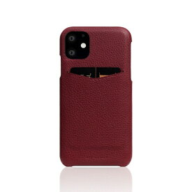 ROA ロア iPhone11 Full Grain Leather Back Case Burgundy Rose
