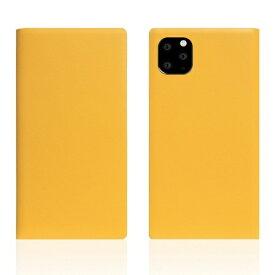 ROA ロア iPhone11 ProMax Calf Skin Leather Diary Yellow