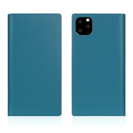 ROA ロア iPhone11 ProMax Calf Skin Leather Diary Blue