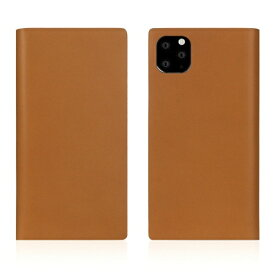 ROA ロア iPhone11 ProMax Calf Skin Leather Diary Camel