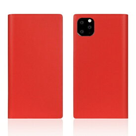 ROA ロア iPhone11 ProMax Calf Skin Leather Diary Red