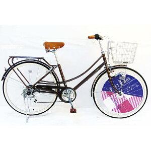 イーストボーイ EASTBOY 26型 自転車 EASTBOY CASUAL FAMILY(ブラウン/外装6段変速) 20EB266CF【2020年モデル】 【代金引換配送不可】