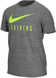 ナイキ NIKE メンズ トレーニングシャツ DRI-FIT トレーニング S/S (Lサイズ/チャコールヘザー) BQ367-073