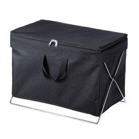 サンワサプライ SANWA SUPPLY 折りたたみ式蓋付き手荷物収納ボックス ブラック CB-BOXTW1BK