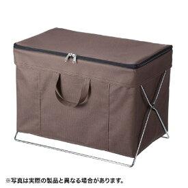 サンワサプライ SANWA SUPPLY 折りたたみ式蓋付き手荷物収納ボックス ブラウン CB-BOXTW1BR