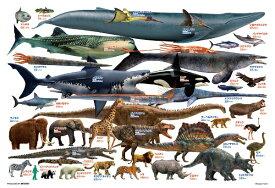 ビバリー BEVERLY ジグソーパズル 80-028 巨大生物くらべてみよう!(80ピース)