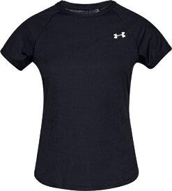 アンダーアーマー UNDER ARMOUR SMサイズ レディース トレーニングTシャツ UAスピード ストライド ショートスリーブ(ブラック×ブラック×リフレクティブ) 1326462