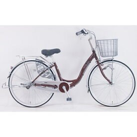 サイモト自転車 SAIMOTO 26型 自転車 ミルトン ライト(ブラウン/内装3段変変速) FLAL-W263RHD-BAA-B【組立商品につき返品不可】 【代金引換配送不可】