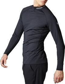 ドーム メンズ ゴルフ UAヒートギア フィッティド ロングスリーブ モック UA HG Fitted Long Sleeve Mock(MDサイズ×Black / Mod Gray)1353521-001