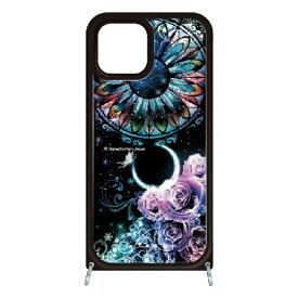 藤家 Fujiya iPhone11 VESTI 着せ替え用セット(ガラスハイブリッドカバー+TPUケース) 幻想デザイン  B. ステンドグラスローズ VESTI B.ステンドグラスローズ vesgp7413-b-ip11
