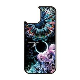 藤家 Fujiya iPhone11 VESTI 着せ替え用背面カバー(ガラスハイブリッド) 幻想デザイン  B. ステンドグラスローズ VESTI B.ステンドグラスローズ vegp7418-b-ip11