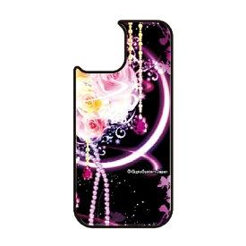 藤家 Fujiya iPhone11 VESTI 着せ替え用背面カバー(ガラスハイブリッド) 幻想デザイン  H. 幻想ピンクローズ VESTI H.幻想ピンクローズ vegp7418-h-ip11