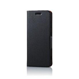 エレコム ELECOM BASIO4 ソフトレザーケース 薄型 磁石付 ブラック PM-BAS4PLFUBK