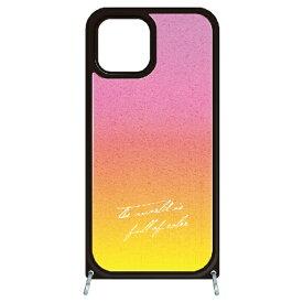 藤家 Fujiya iPhone11 VESTI 着せ替えセット(ガラスハイブリッドカバー+TPUケース) B.ピンク×イエロー VESTI