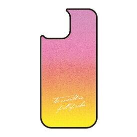 藤家 Fujiya iPhone11 VESTI 着せ替え用背面カバー(ガラスハイブリッド) B.ピンク×イエロー VESTI