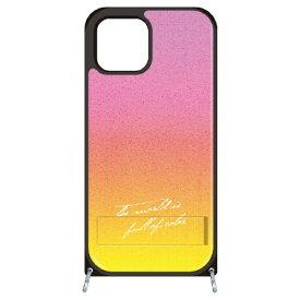 藤家 Fujiya iPhone11Pro VESTI 着せ替えセット(PCハードカバー+TPUケース) B.ピンク×イエロー VESTI