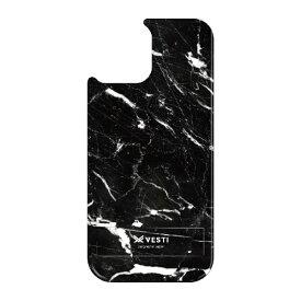 藤家 Fujiya iPhone11 VESTI 着せ替え用背面カバー(PCハード) D.マーブル_ブラック VESTI