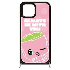 藤家 Fujiya iPhone11Pro VESTI 着せ替えセット(ガラスハイブリッドカバー+TPUケース) どうぶつのりフエキくん  E.ピンク VESTI vesgp7409-ae-ip11pro