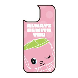 藤家 Fujiya iPhone11 VESTI 着せ替え用背面カバー(ガラスハイブリッド) どうぶつのりフエキくん  E.ピンク VESTI vegp7410-e-ip11