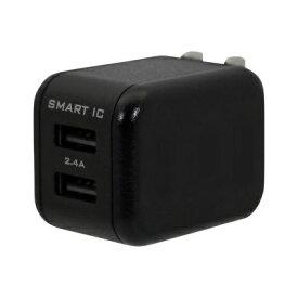 OWLTECH オウルテック スマートIC搭載 急速充電2.4A出力対応AC充電器 ブラック OWL-ACU2F24S2-BK [2ポート /Smart IC対応]