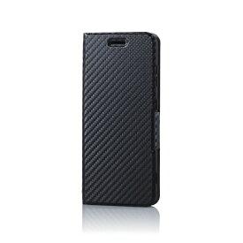 エレコム ELECOM BASIO4 ソフトレザーケース 薄型 磁石付 カーボン PM-BAS4PLFUCB