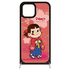 藤家 Fujiya iPhone11Pro VESTI 着せ替えセット(ガラスハイブリッドカバー+TPUケース) 不二家  O. ペコ和柄ピンク VESTI vesgp7423-o-ip11pro