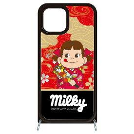 藤家 Fujiya iPhone11 VESTI 着せ替えセット(ガラスハイブリッドカバー+TPUケース) 不二家  N. ペコ和柄レッド VESTI vesgp7423-n-ip11