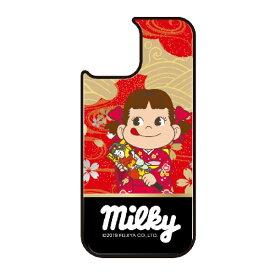 藤家 Fujiya iPhone11 VESTI 着せ替え用背面カバー(ガラスハイブリッド) 不二家  N. ペコ和柄レッド VESTI vegp7426-n-ip11