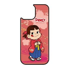 藤家 Fujiya iPhone11 VESTI 着せ替え用背面カバー(ガラスハイブリッド) 不二家  O. ペコ和柄ピンク VESTI vegp7426-o-ip11