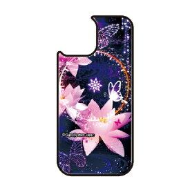 藤家 Fujiya iPhone11Pro VESTI 着せ替え用背面カバー(ガラスハイブリッド) 幻想デザイン  J. 蓮と蝶 VESTI J.蓮と蝶 vegp7418-j-ip11pro