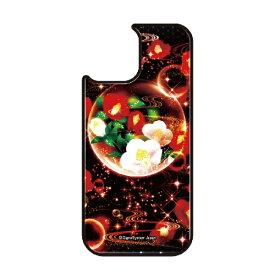 藤家 Fujiya iPhone11Pro VESTI 着せ替え用背面カバー(ガラスハイブリッド) 幻想デザイン  Y .泡沫幻想_椿 VESTI Y. 泡沫幻想椿 vegp7418-y-ip11pro