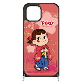 藤家 Fujiya iPhone11 VESTI 着せ替えセット(PCハードカバー+TPUケース) 不二家  O. ペコ和柄ピンク VESTI vespc5323-o-ip11