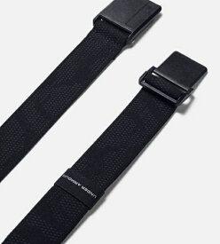 アンダーアーマー UNDER ARMOUR フリーサイズ メンズ ベルト UAマグネティック ストレッチ ゴルフ ベルト(ブラック×ブラック) 1352078