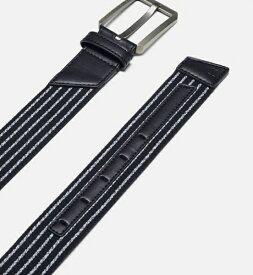 アンダーアーマー UNDER ARMOUR 34サイズ メンズ ベルト UAストレッチ ベルト(ブラック×ブラック) 1351471