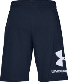 アンダーアーマー UNDER ARMOUR MDサイズ メンズ UAスポーツスタイル コットン ロゴ ショーツ(アカデミー×ホワイト) 1329300