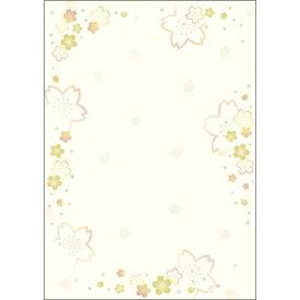 ササガワ SASAGAWA 4-1045 〔各種プリンタ〕和柄用紙 和ごころ 0.18mm [A4 /10枚] 金色桜
