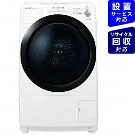 シャープ SHARP ES-S7E-WL ドラム式洗濯乾燥機 ホワイト系 [洗濯7.0kg /乾燥3.5kg /ヒーター乾燥(水冷・除湿タイプ) /左開き][洗濯機 7kg コンパクトサイズ マンション]