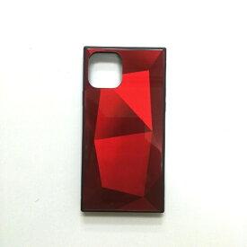アクロス ACROSS iPhone11 Pro SQガラスハイブリッドケース(ダイヤ柄) AIC-DAIA04-NEW58 レッド