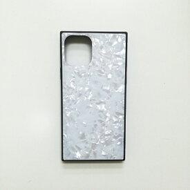 アクロス ACROSS iPhone11 Pro Max SQガラスハイブリッドケース(シェル柄) AIC-SHE12-NEW65 ホワイト
