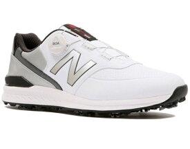 ニューバランス New Balance 25.5cm メンズ ゴルフシューズ スパイクBOA ワイズD(グレー×ホワイト) MGB996