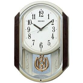 セイコー SEIKO からくり時計 【ウェーブシンフォニー】 茶マーブル模様 AM264B [電波自動受信機能有]