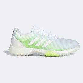 アディダス adidas 23.5cm レディース ゴルフシューズ ウィメンズ コードカオス(ホワイト×ホワイト×シグナルグリーン) EE9336 EPC85