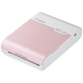 キヤノン CANON コンパクトフォトプリンター SELPHY SQUARE(セルフィー スクエア) ピンク QX10PK [スマートフォン専用 /スクエア]