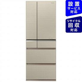 パナソニック Panasonic 冷蔵庫 XPVタイプ マチュアゴールド NR-F506XPV-N [6ドア /観音開きタイプ /501L][冷蔵庫 大型]《基本設置料金セット》