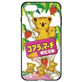 藤家 Fujiya iPhone8/7 (4.7) コアラのマーチ ガラスハイブリッド ケース ghp7049-bk-b-ip8